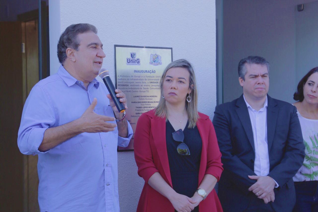 Prefeito Laurez Moreira participa de inauguração de laboratório vocacional e Unidade de Apoio a Pesquisa da UnirG