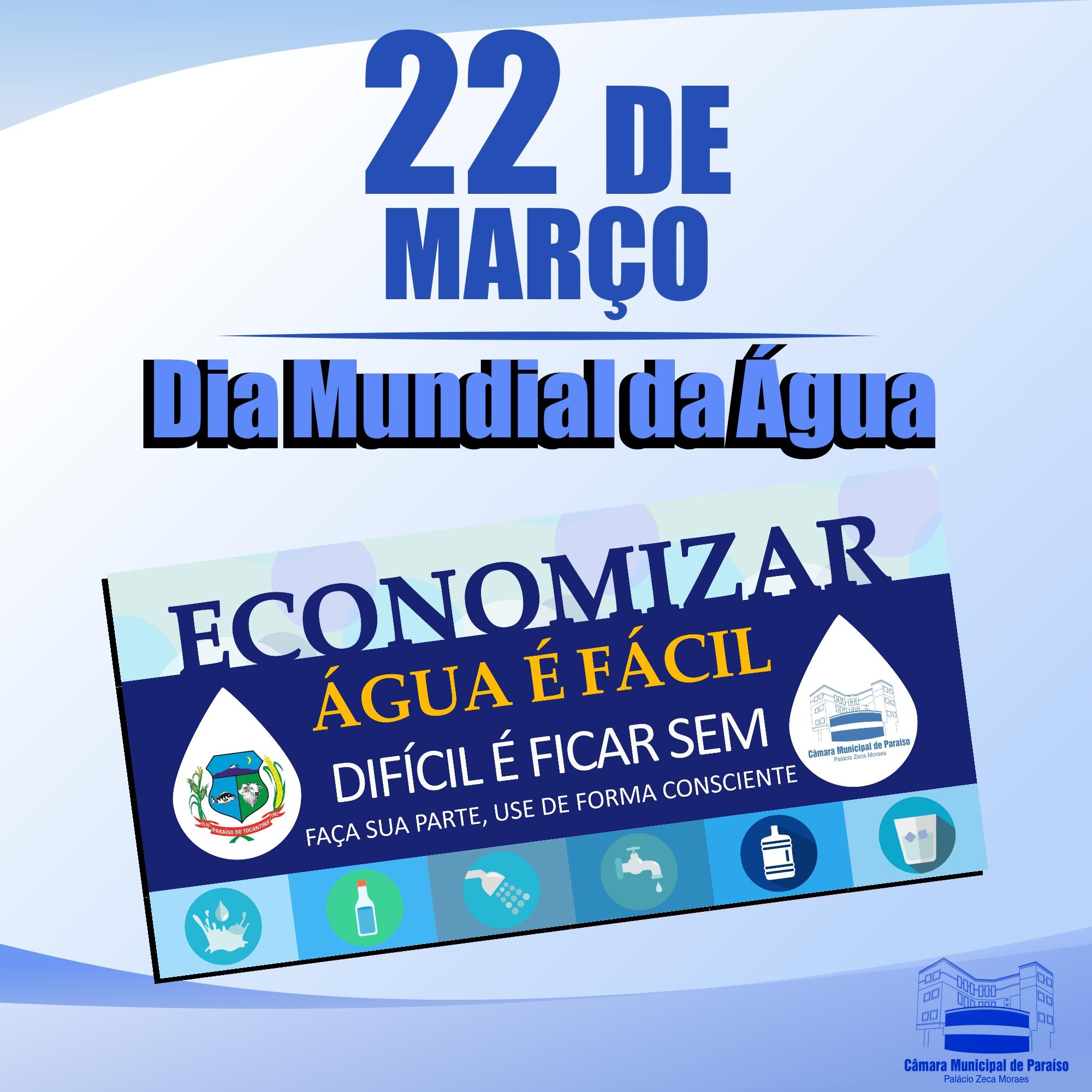 Neste dia 22 se comemora o dia mundial da água