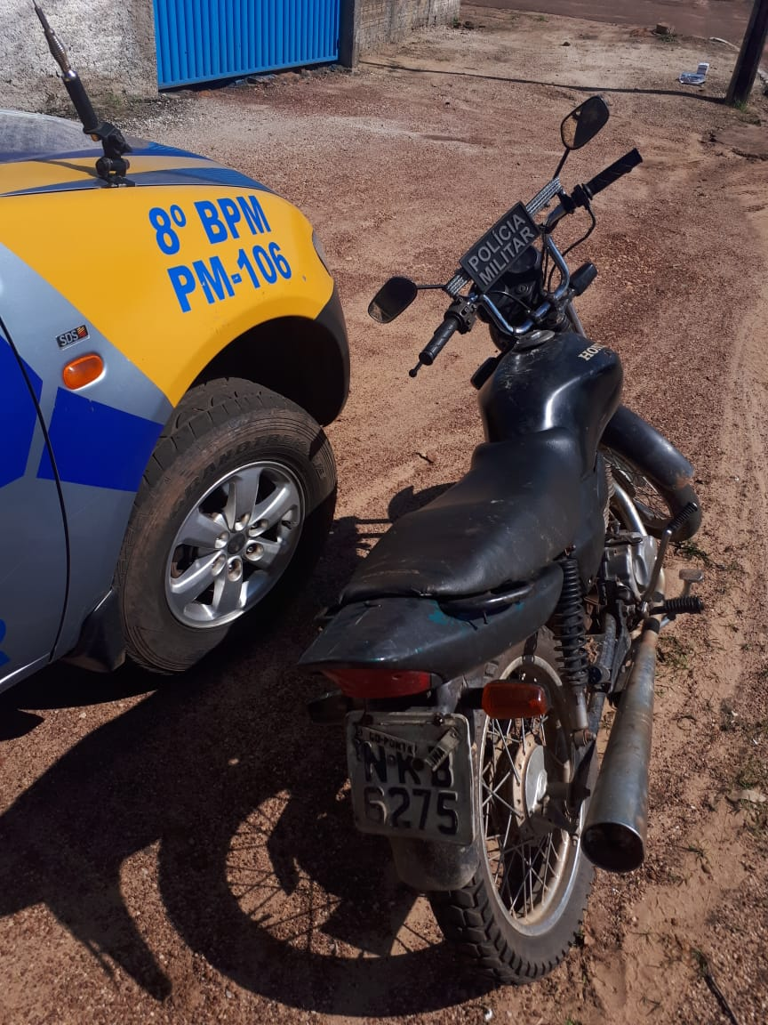 8º BPM recupera motocicleta roubada durante patrulhamento em Divinópolis