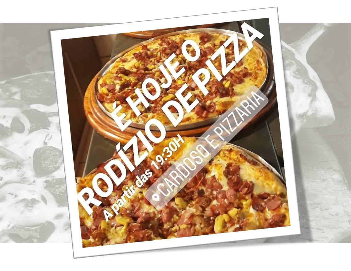 Cardoso Pizza e Cozinha oferece pizza fitness no rodízio desta quinta, 18, em Paraíso