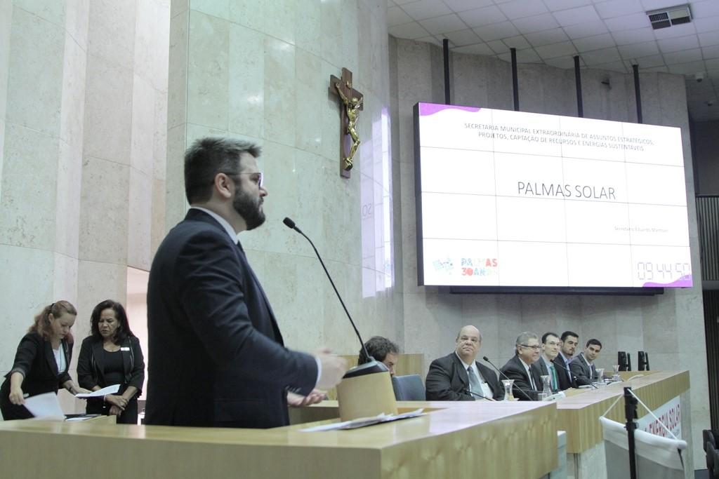 Programa Palmas Energia Solar é apresentado durante Seminário na Câmara Municipal de São Paulo