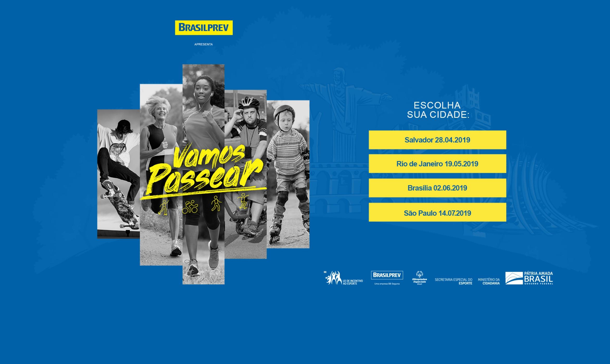 """""""Vamos Passear"""" reúne a família para caminhada em Salvador (BA)"""