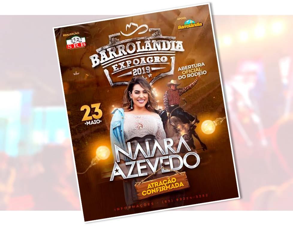 Expoagro de Barrolândia tem abertura do rodeio e show de Naiara Azevedo nesta quinta, 23