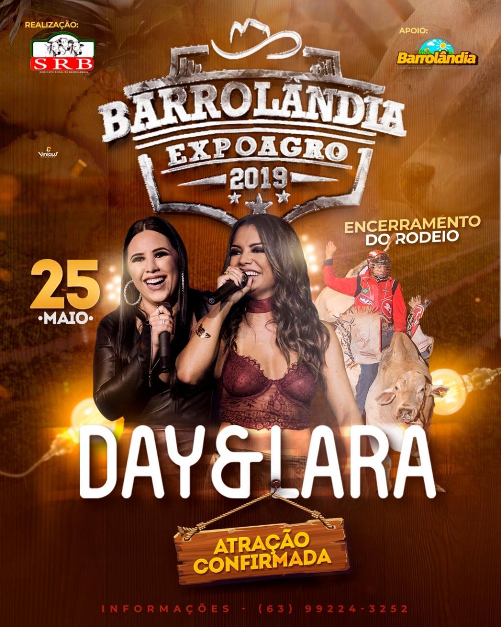 Expoagro de Barrolândia será encerrada neste sábado, 25, com show de Day & Lara