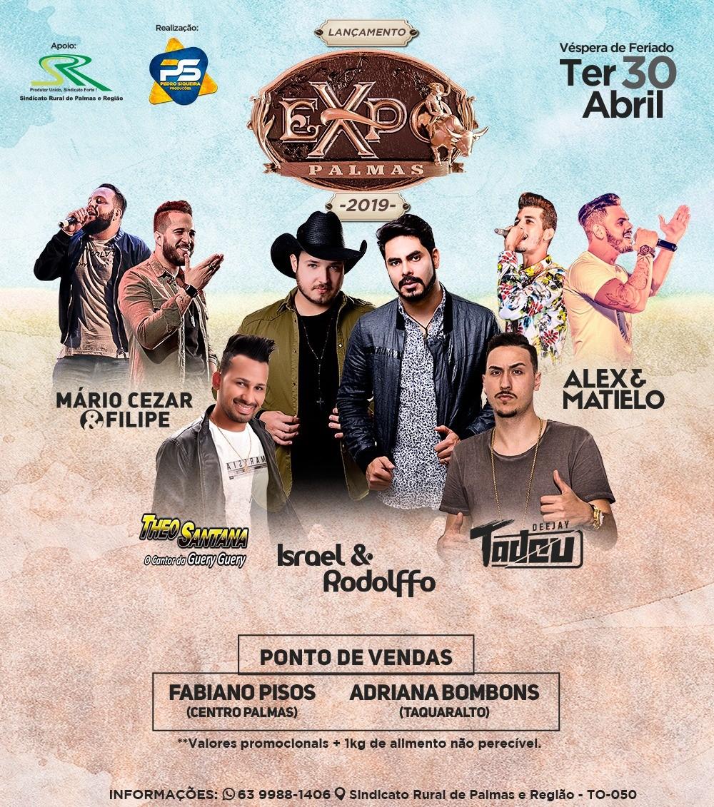 Expopalmas 2019 será lançada com grande show no fim deste mês
