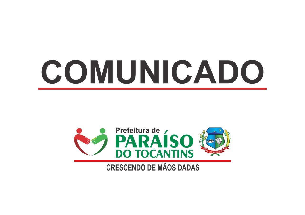 Prefeitura de Paraíso do Tocantins decreta Ponto Facultativo na quinta e sexta-feira da Semana Santa