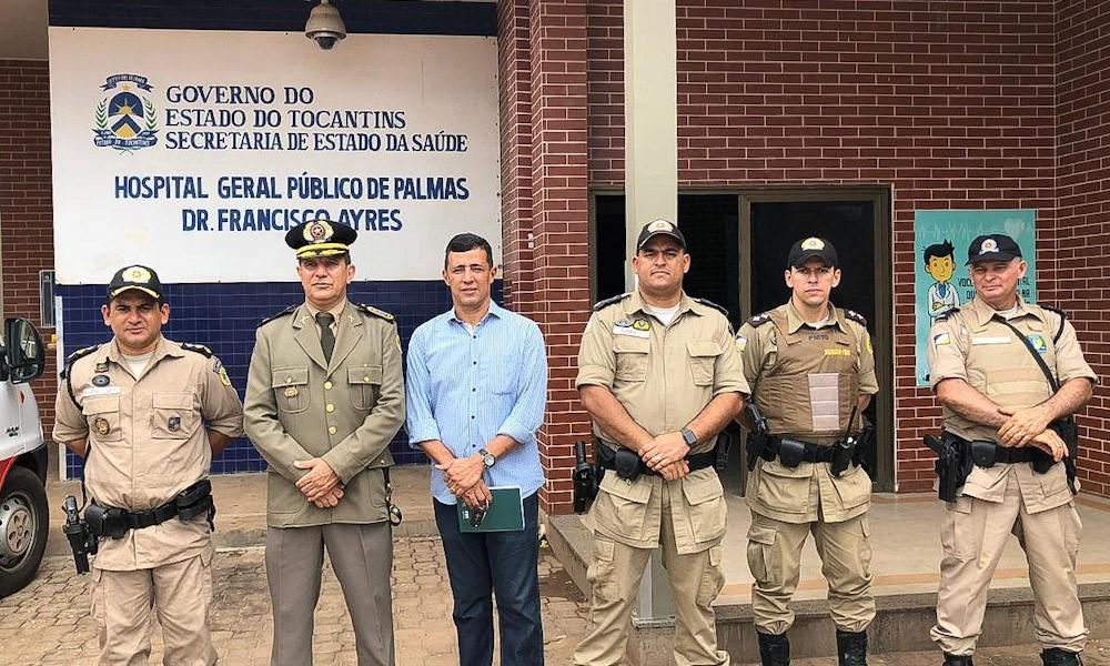 Governador solicita reforço permanente do efetivo da Polícia Militar no HGP