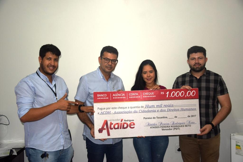 Clube Atlético Cerrado recebe doação do vereador Ataíde Rodrigues
