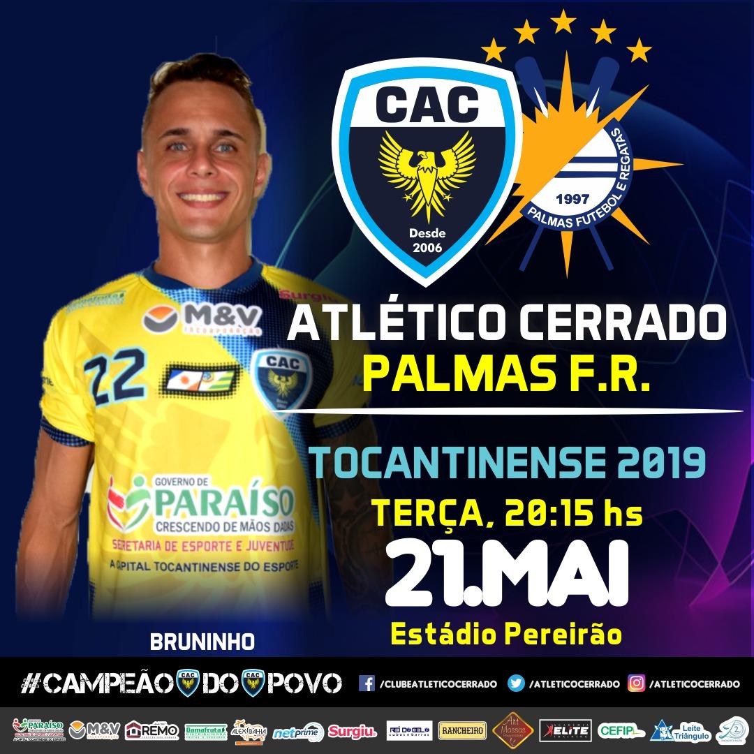 Atlético Cerrado abre segunda fase do Tocantinense na próxima terça, 21