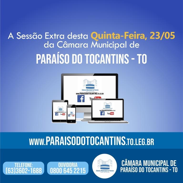 Câmara de Vereadores de Paraíso convoca sessão extra para discutir data-base dos servidores municipais
