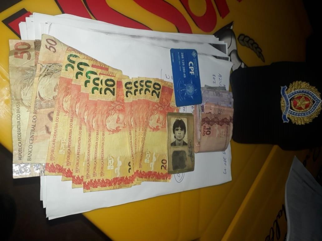 Suspeito é preso pela Polícia Militar em Barrolândia após utilizar dinheiro falso