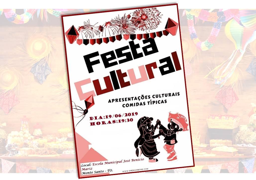 Festa Cultural da Escola Municipal José Benício Mariz será realizada em junho em Monte Santo