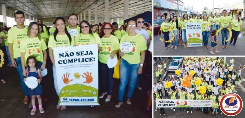 FEPAR-FECIPAR participa de passeata contra o abuso sexual infanto-Juvenil 2019