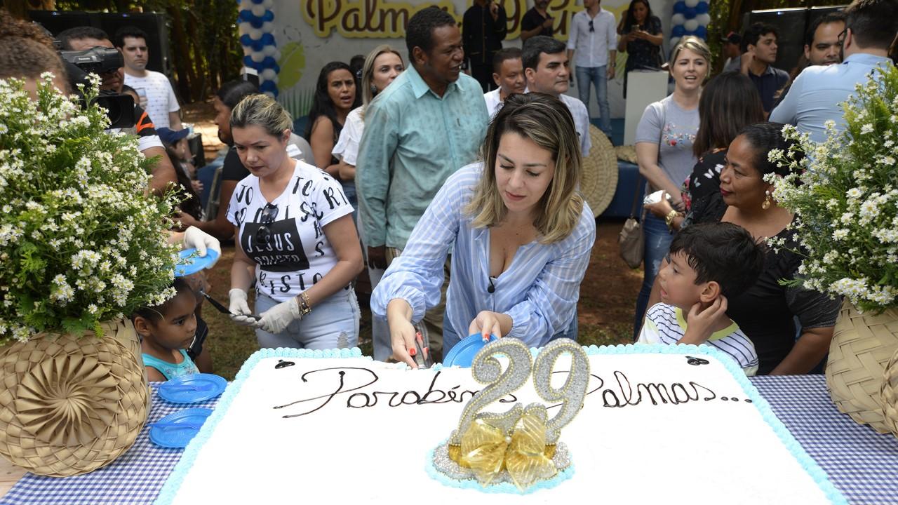 Cerimônia do Corte do Bolo e Culto Ecumênico do Aniversário de Palmas, acontece no Parque Cesamar na segunda-feira, 20