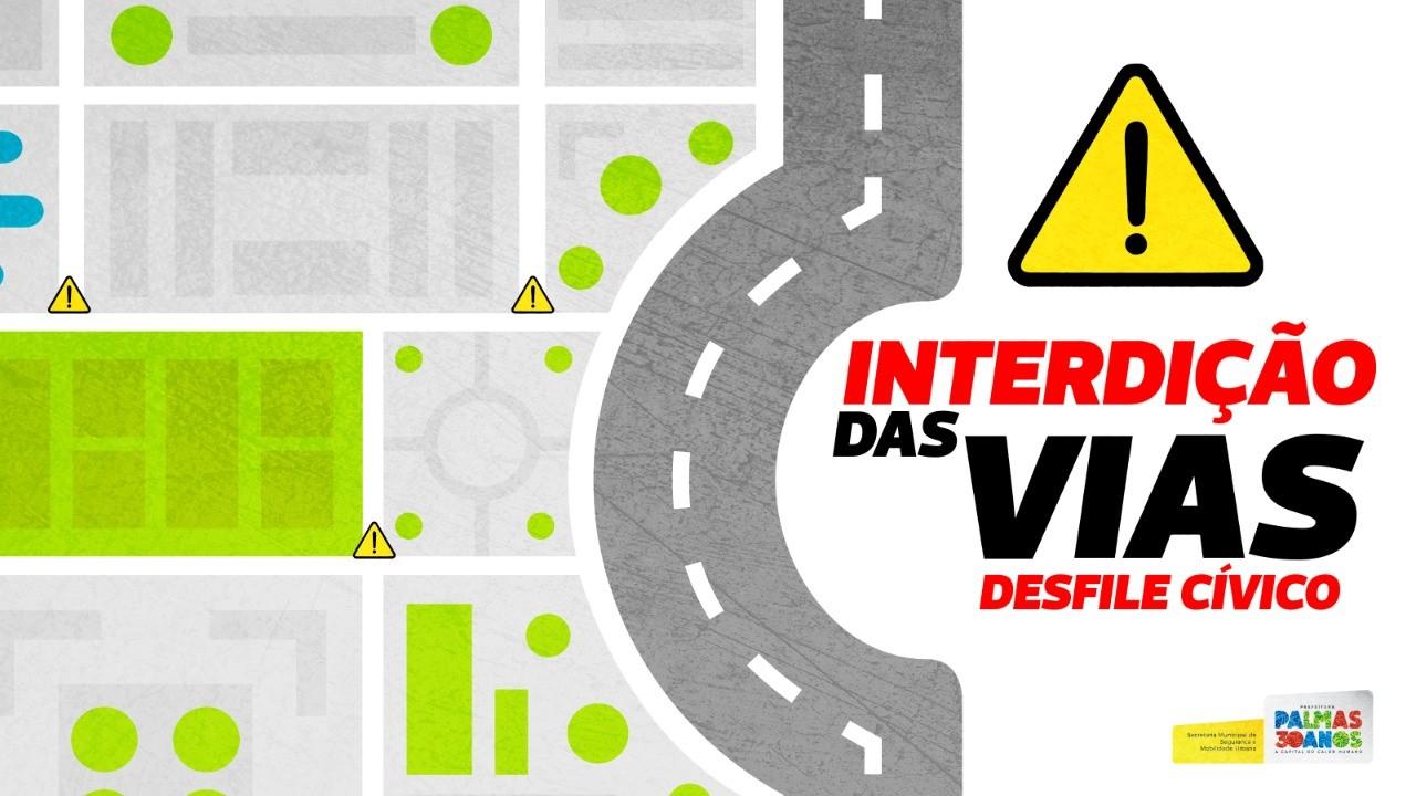 Vias da Capital terão interdição a partir deste domingo, 19, para desfile cívico-militar