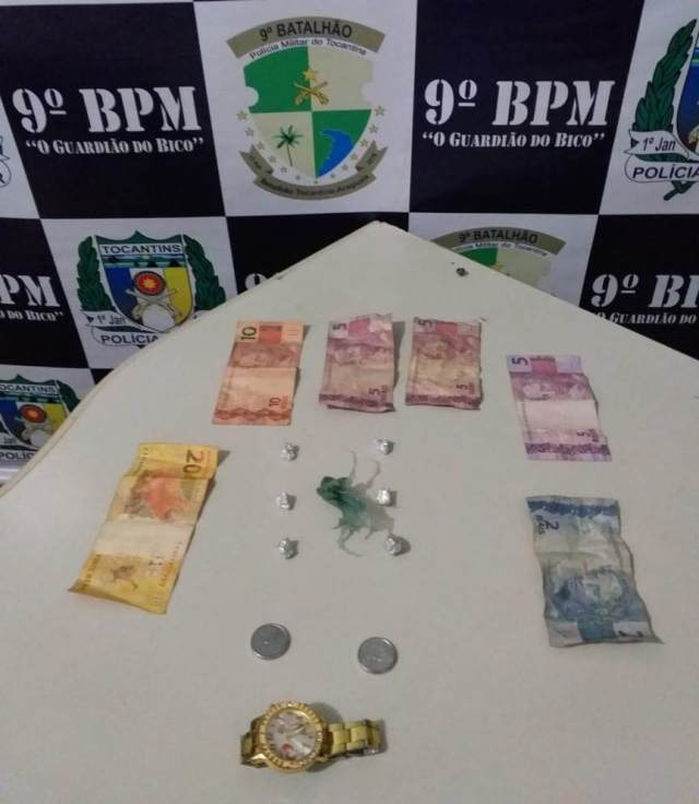 PM apreende menor com crack, sementes de maconha e dinheiro no Setor Vila Miranda em Araguatins
