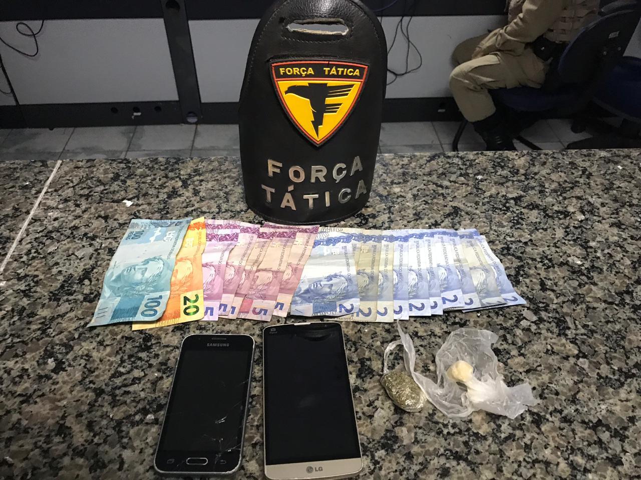 Polícia Militar detém homens por porte de drogas em Araguaína