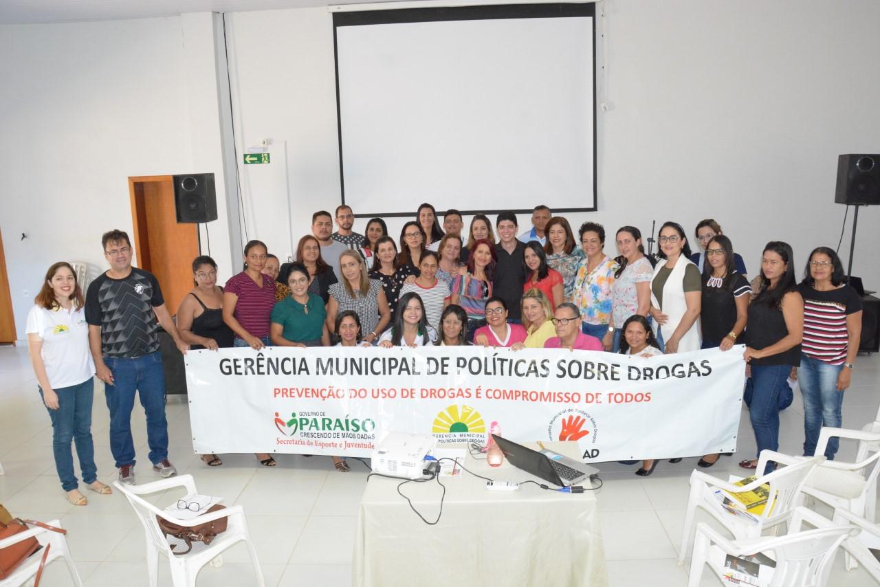 Curso de prevenção ao uso de drogas marca as ações da Semana Intensiva de Políticas Sobre Drogas em Paraíso
