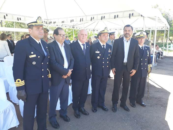 Presidente do TJTO representa o Poder Judiciário na solenidade de passagem de comando da Capitania Fluvial do Araguaia-Tocantins