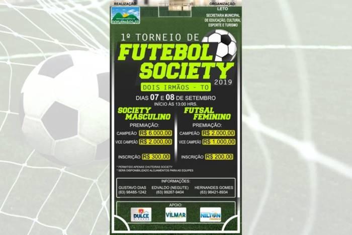 1º Torneio de Futebol Society de Dois Irmãos distribuirá R$ 11 mil entre os campeões