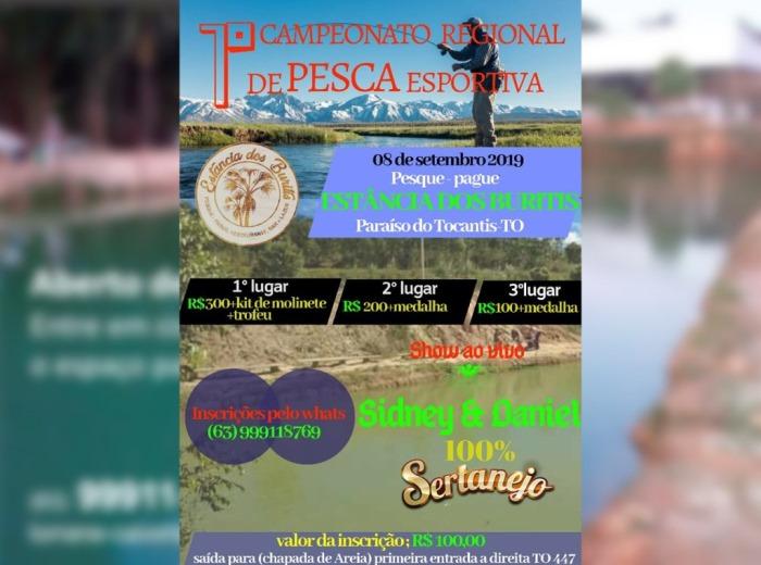 Estância dos Buritis promove campeonato de pesca esportiva em Paraíso