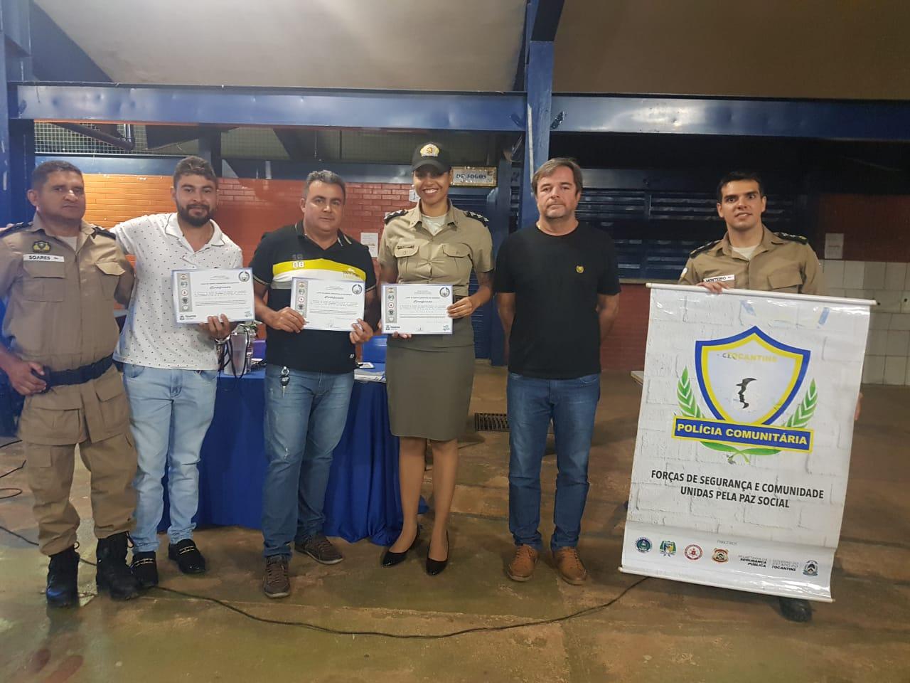 PM e SSP formam primeira turma do Curso de Agente Comunitário de Segurança em Taquaruçu