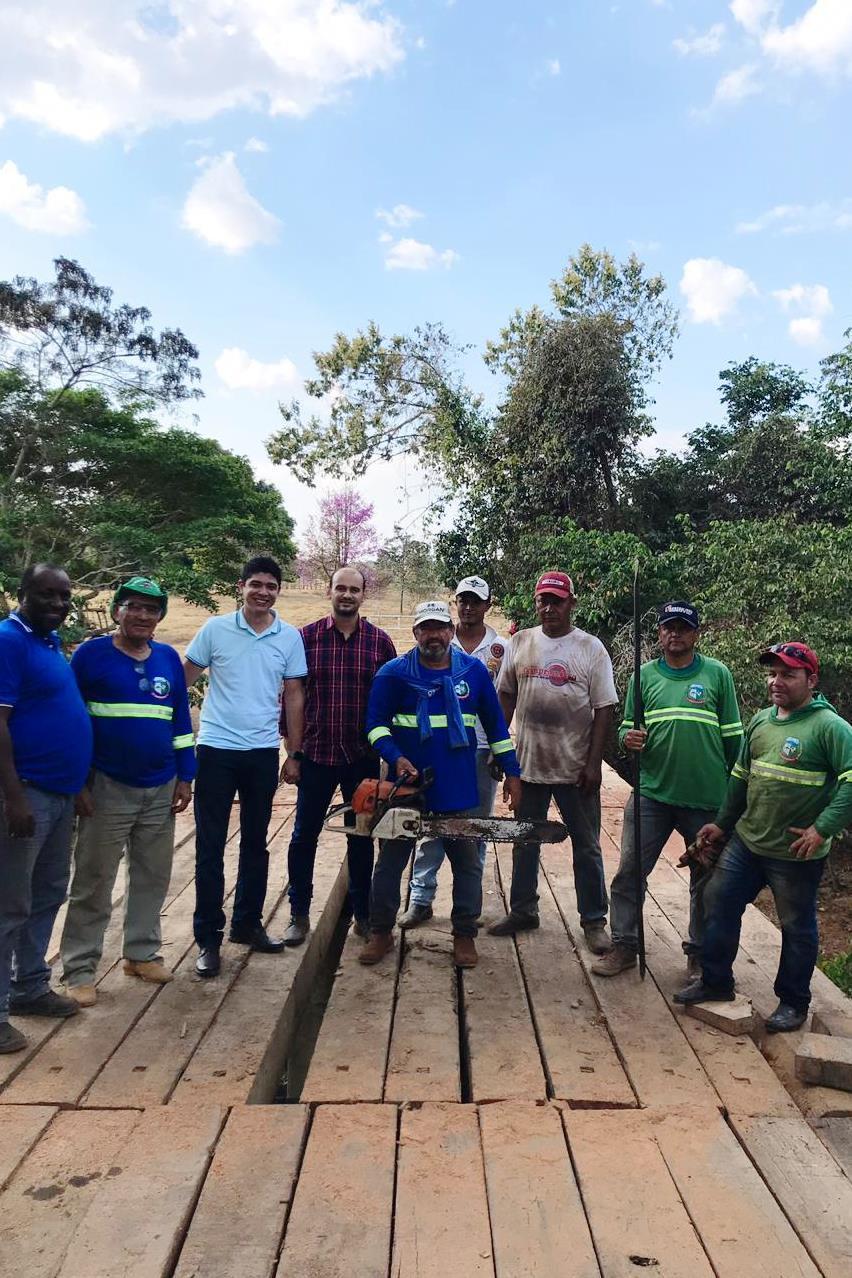Vice-Prefeito Celso Morais visita obras de recuperação de estradas e pontes