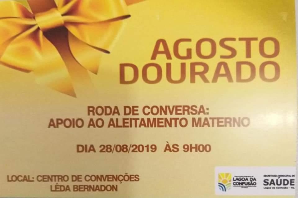 Prefeitura de Lagoa da Confusão adere à campanha Agosto Dourado e realizará programação especial