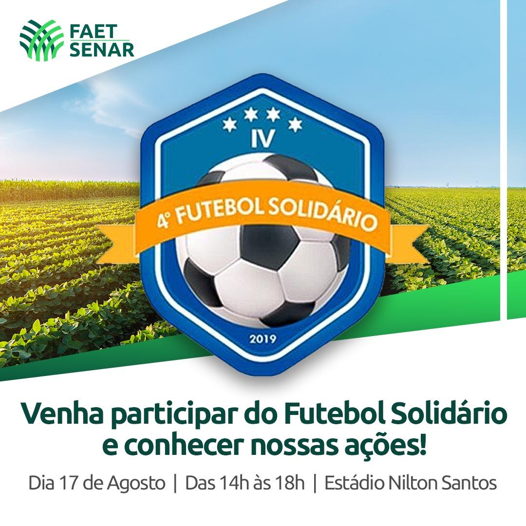 Sistema FAET / SENAR participa da programação do Futebol Solidário 2019 em Palmas