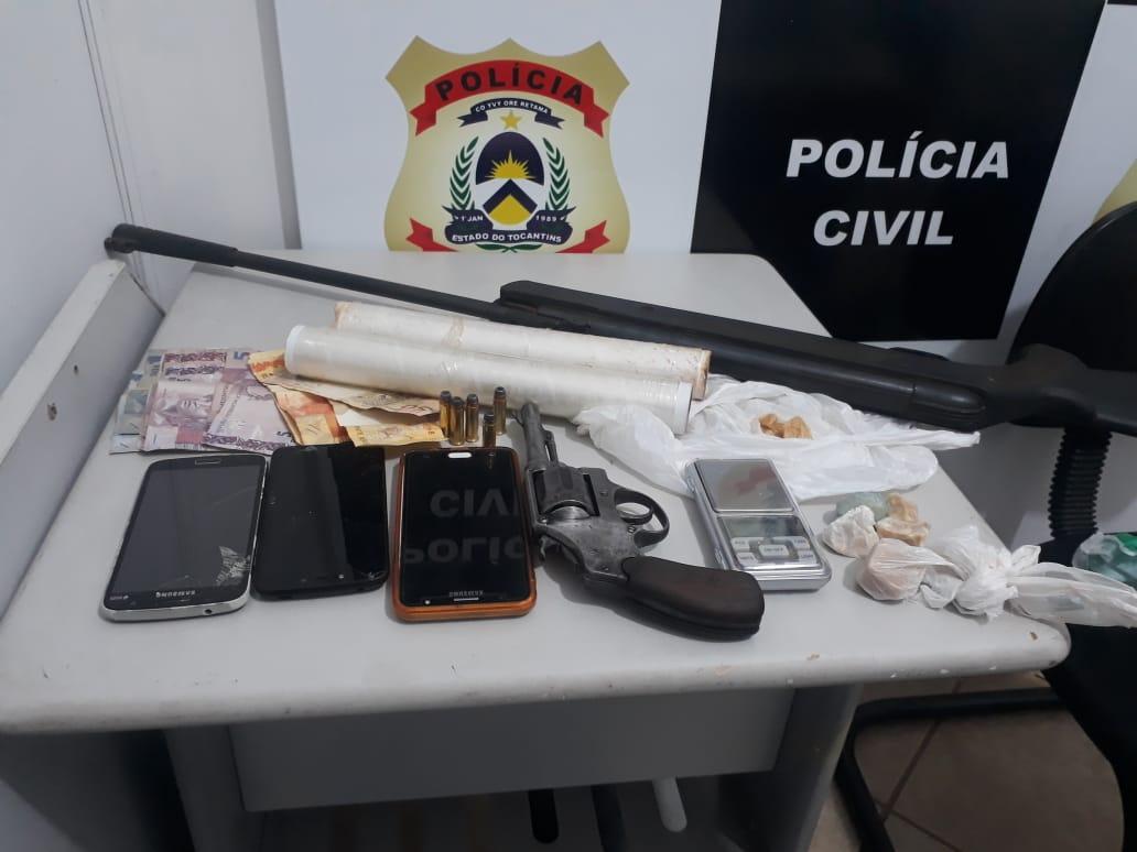 Polìcia Civil deflagra Operação Doce Mel e prende um casal em Colmeia por tráfico de drogas