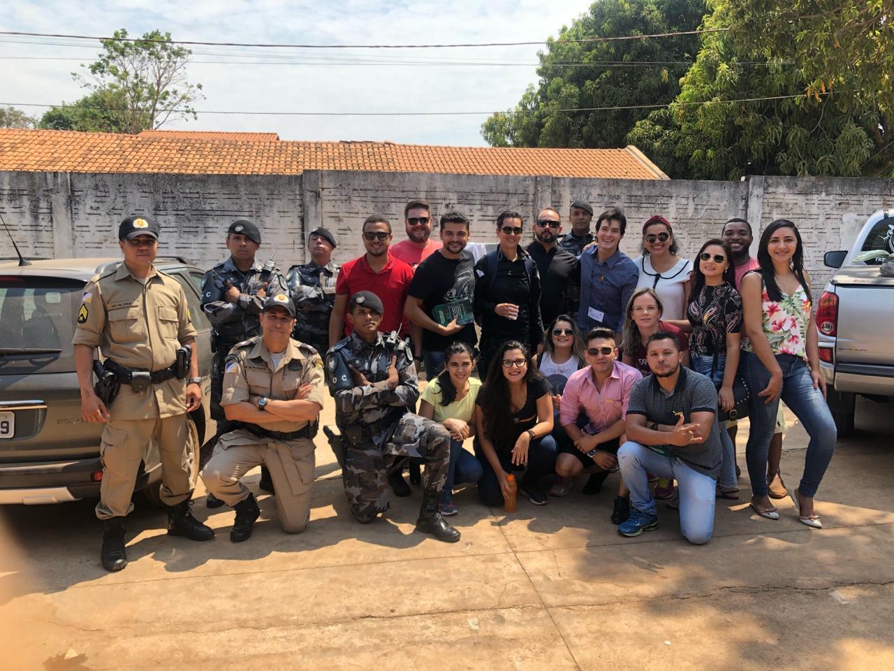 Segurança Pública participa de ação educativa em Escola Estadual no Distrito de Luzimangues