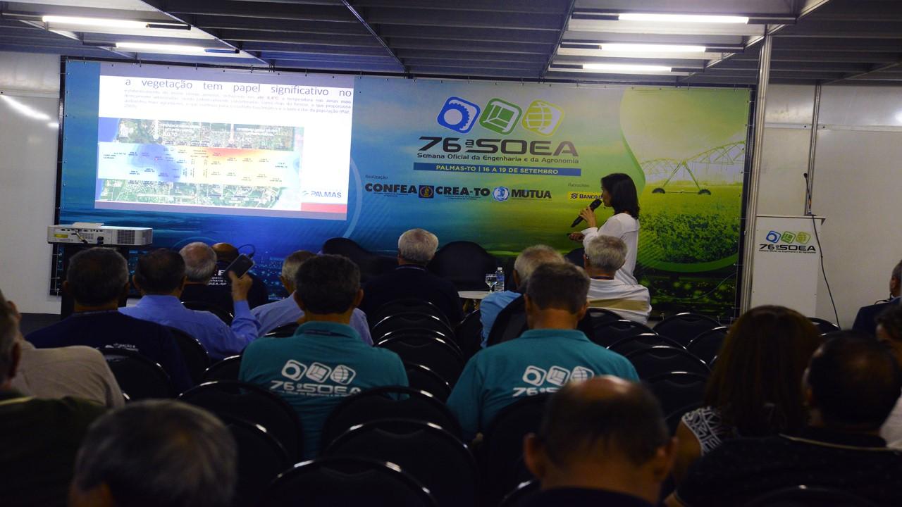Sistema de Infraestrutura Verde de Palmas é tema de palestra na 76ª SOEA