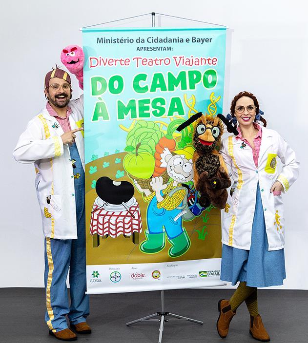 """Peça de teatro gratuita """"Do campo a mesa"""" para crianças chega à cidade de Porto Nacional (TO)"""