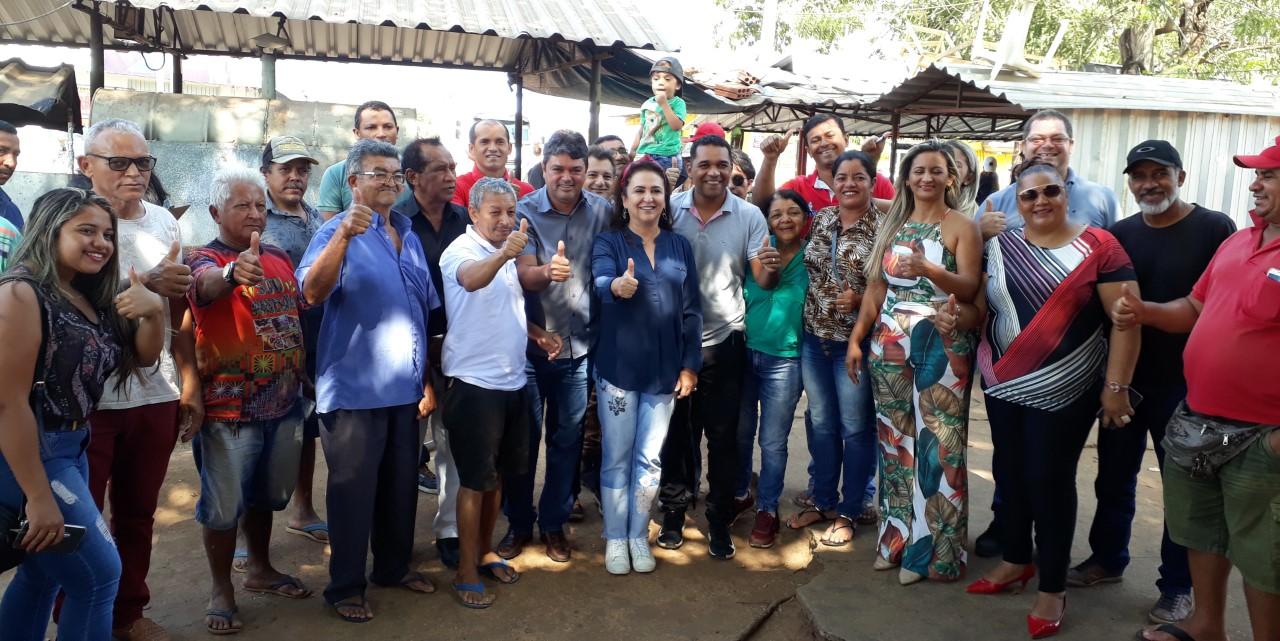 Vereador Etinho nordeste acompanhou a Senadora Katia Abreu em reunião com feirantes de Taquaralto