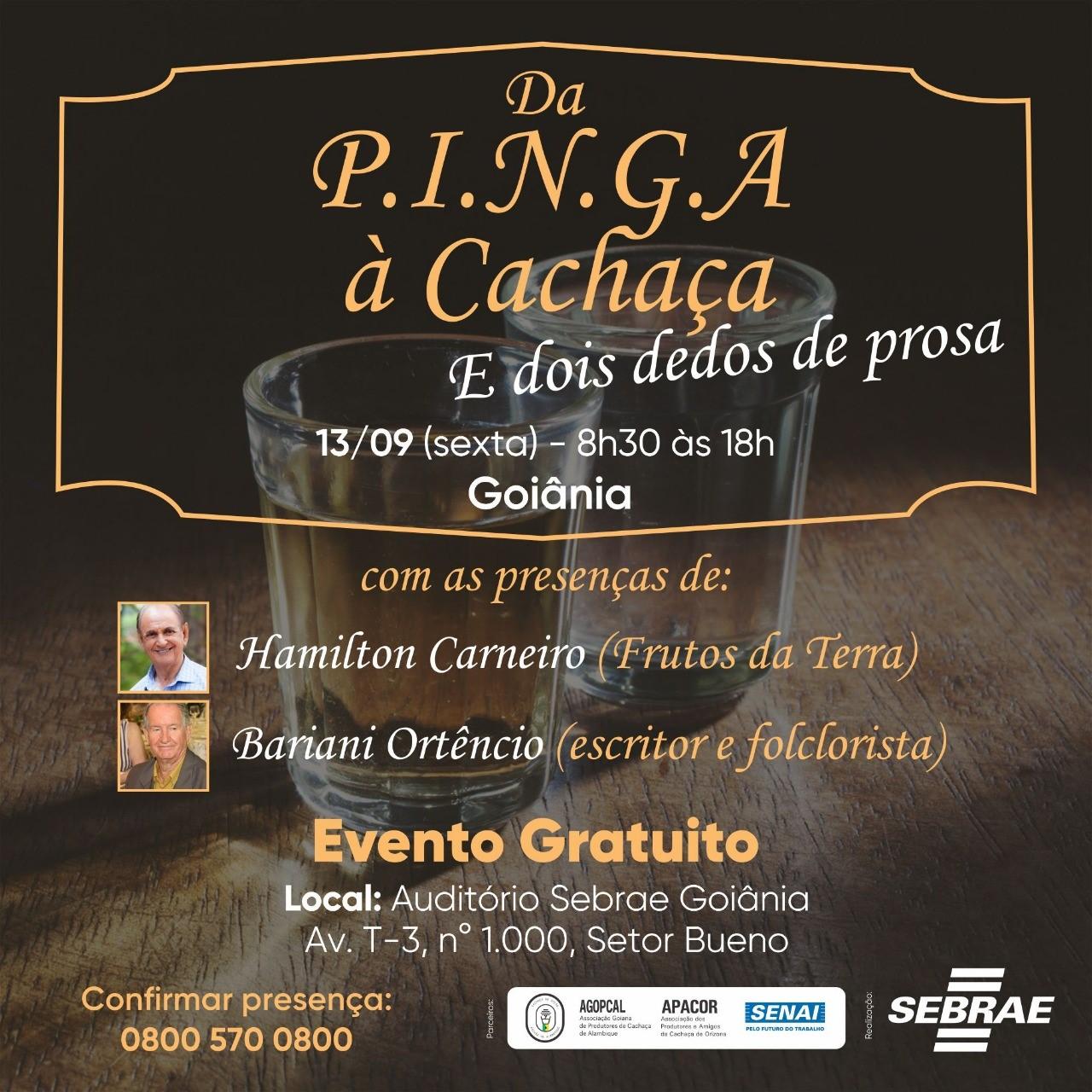 Sebrae Goiás celebra Dia Nacional da Cachaça com empreendedores