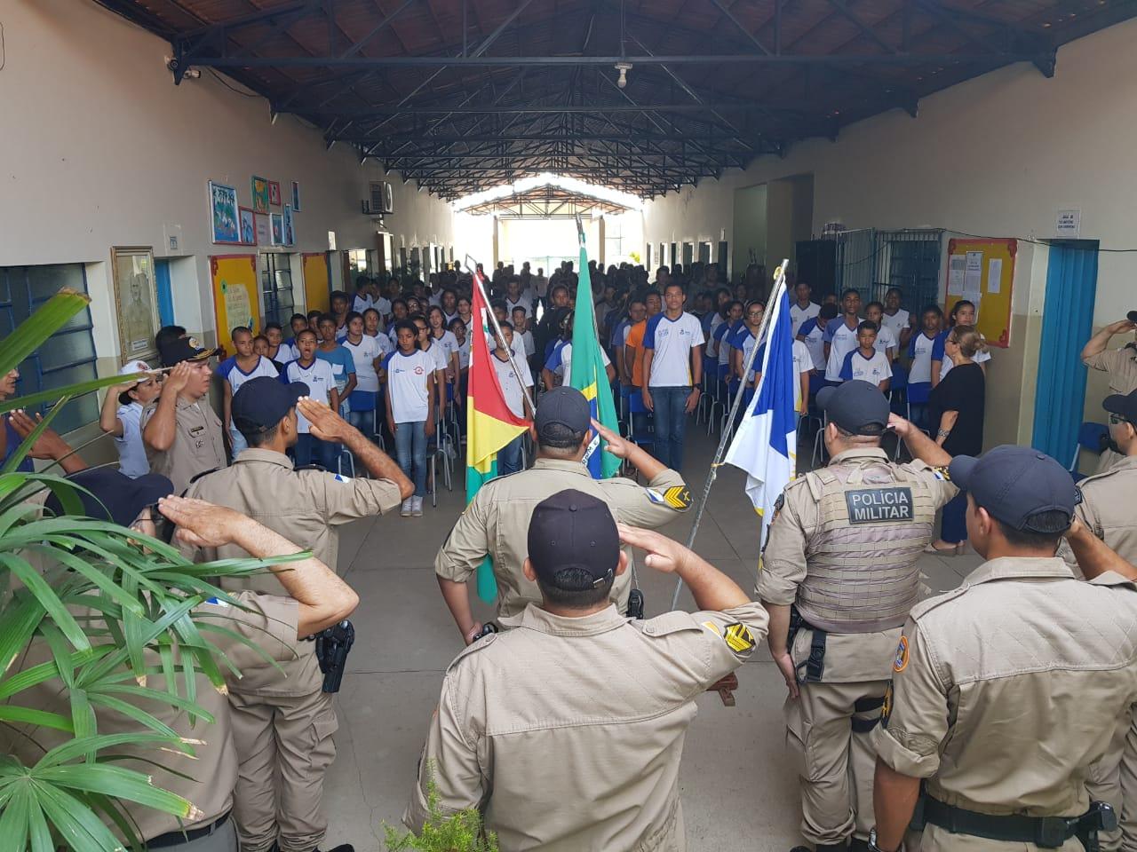 6ª CIPM promove palestra com tema contra Bulling, depressão e automutilação, para crianças do Colégio Oscar Sardinha, em Miracema