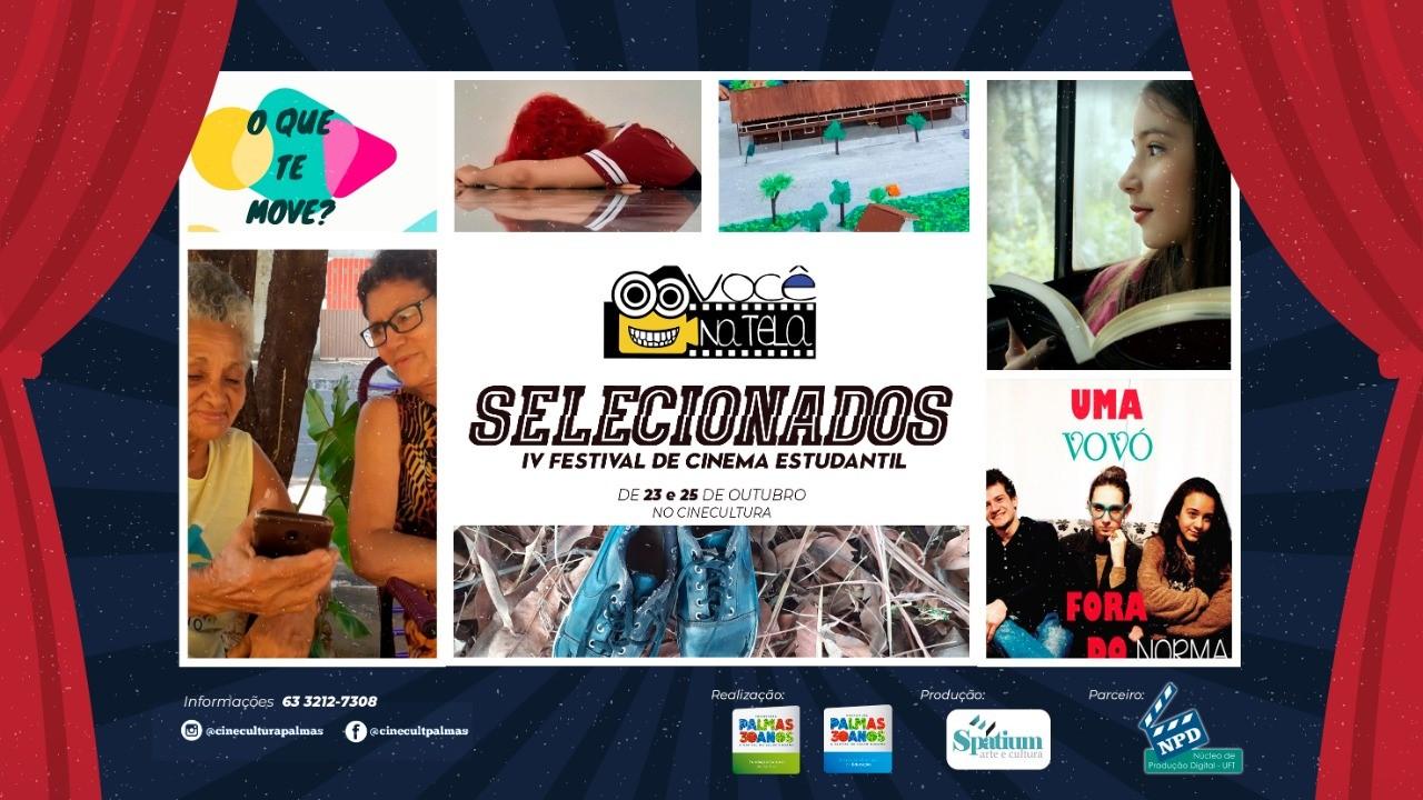 IV Festival de Cinema Estudantil Você na Tela será aberto nesta quarta, 22, em Palmas