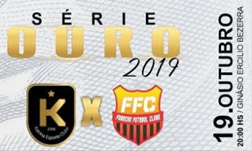 Katrina e Furacão decidem a liderança da Serie Ouro do Tocantinense de Futsal 2019