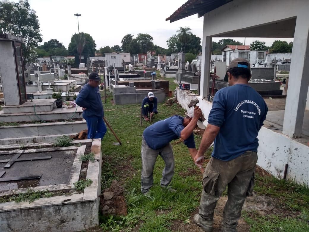 Prefeitura de Miracema inicia obra no cemitério Municipal São João Batista