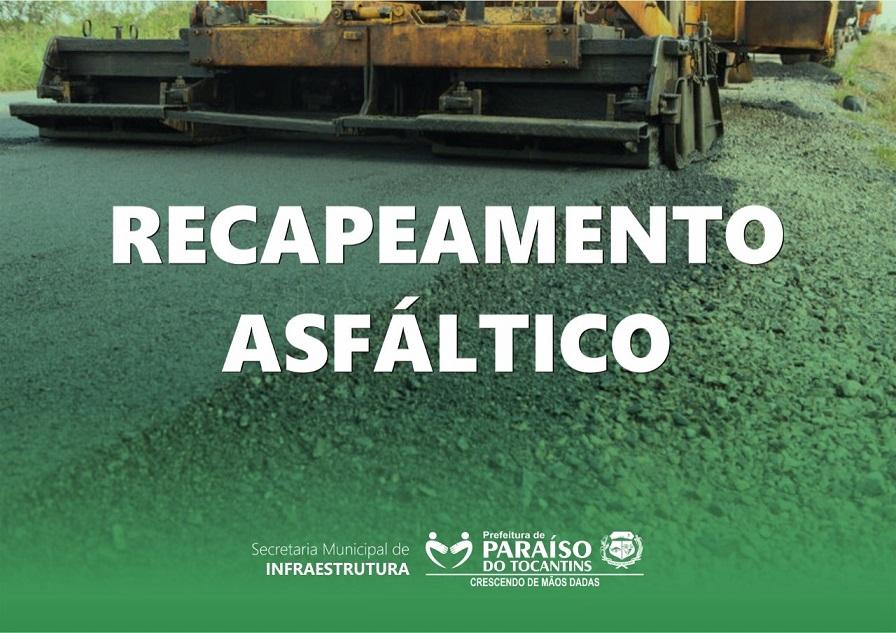 Prefeitura de Paraíso informa início de obras de recapeamento no centro de Paraíso