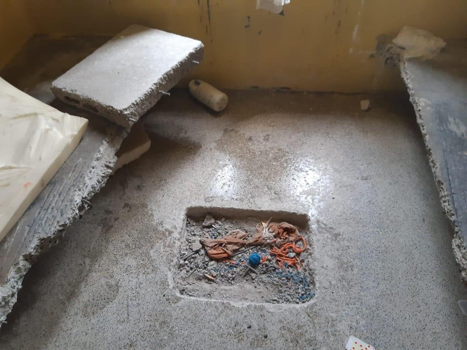 Túnel em estágio inicial foi encontrado em cela do Barra da Grota, em Araguaína