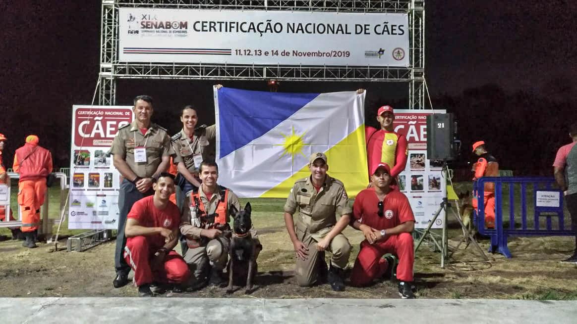 Cadela Sky, do Corpo de Bombeiros Militar, conquista inédita Certificação Nacional de buscas em estruturas Colapsadas