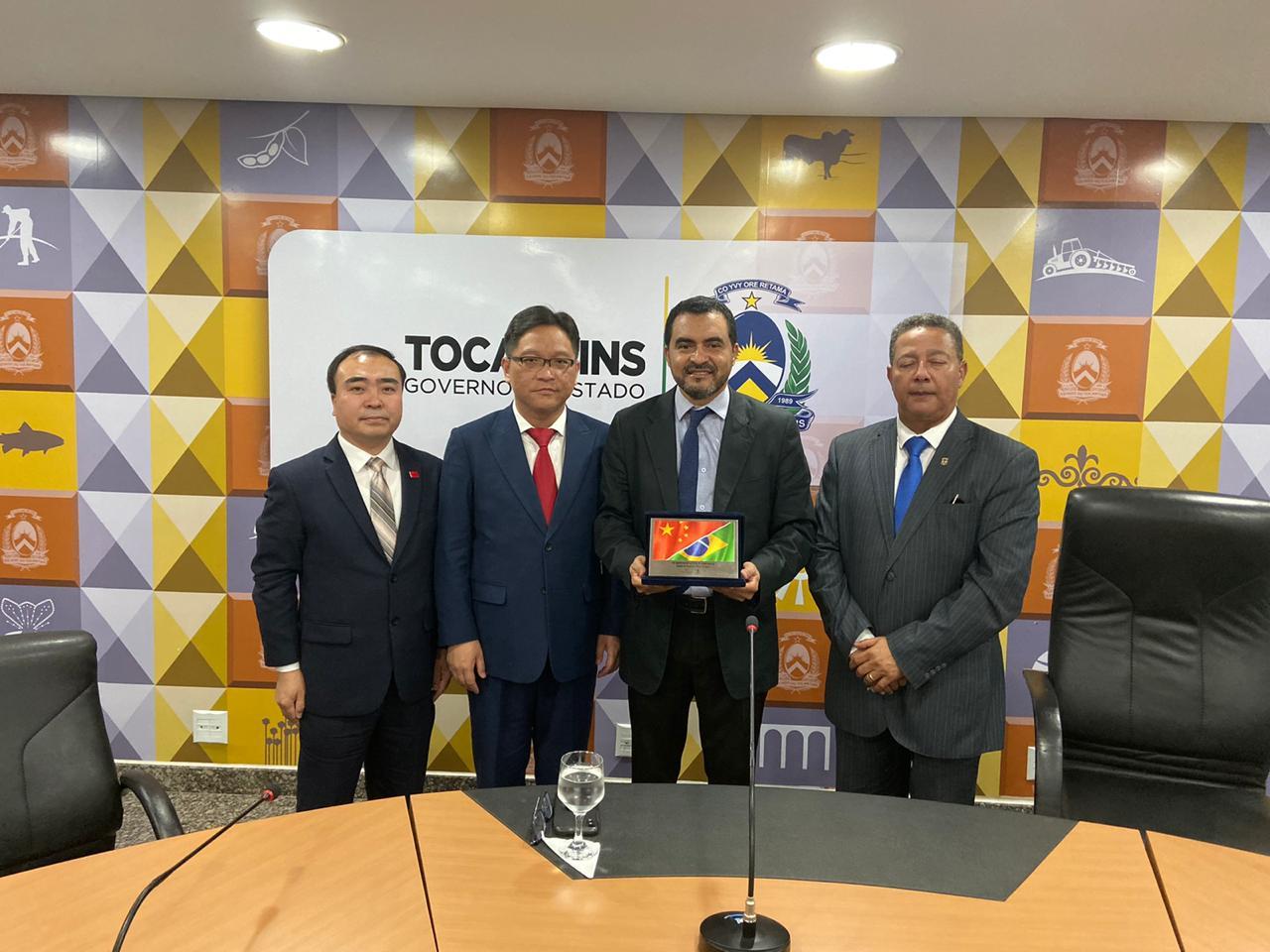 Governador em exercício Wanderlei Barbosa participa de reunião com investidores de Shanghai