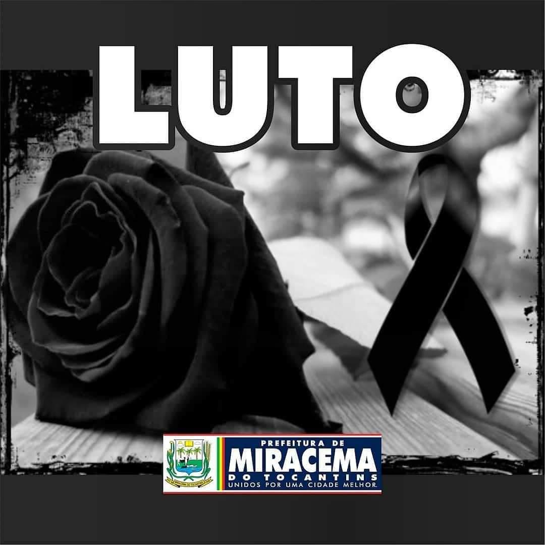 A Prefeitura de Miracema TO emite nota de pesar pelo falecimento de Augusto de Souza P. Júnior