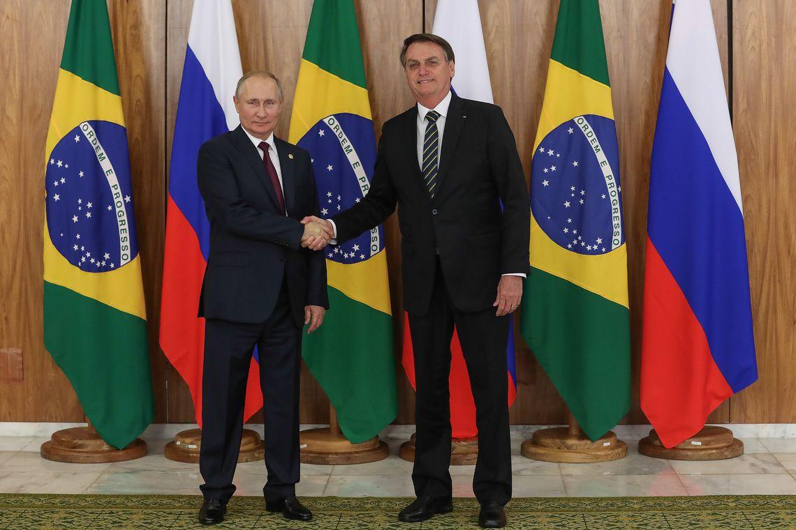 Bolsonaro recebe presidentes da Rússia, Índia, China e África do Sul, em Brasília DF