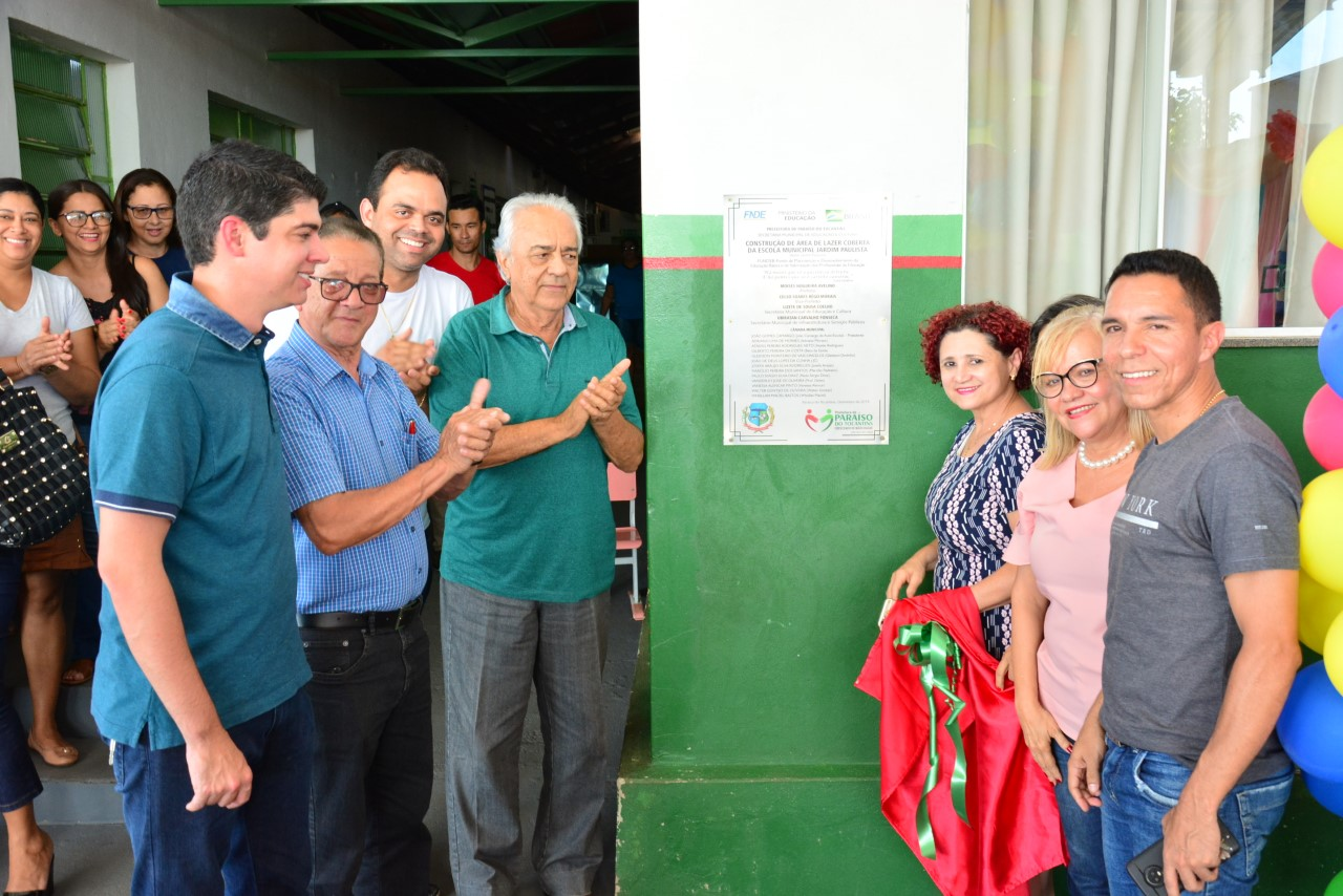 Moisés Avelino inaugura Área de Lazer Coberta na Escola Municipal Jardim Paulista