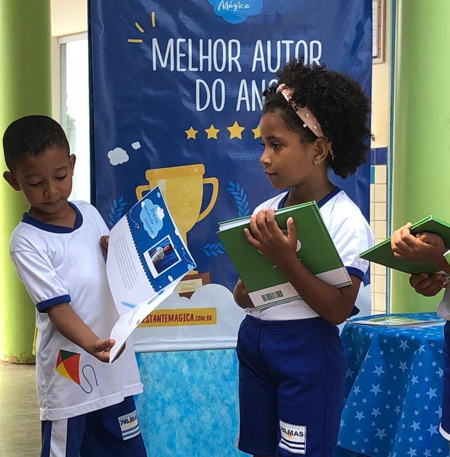 Alunos do Centro Municipal de Educação Infantil (Cmei) Fontes do Saber lançam seus próprios livros
