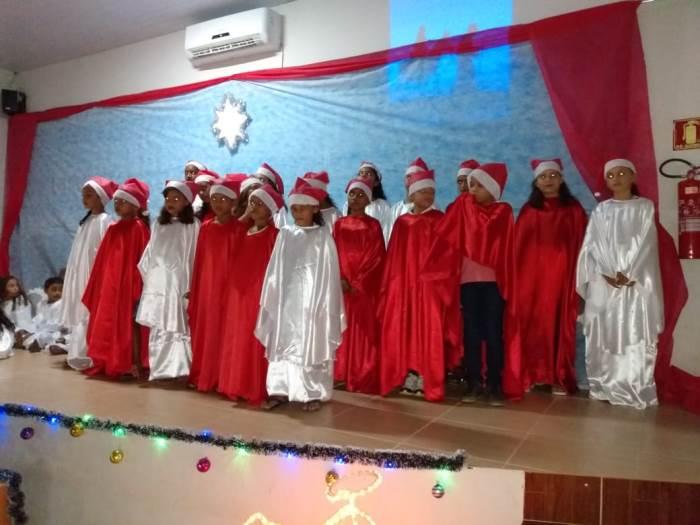 Crianças do CRAS de Chapada de Areia apresentam Cantata de Natal