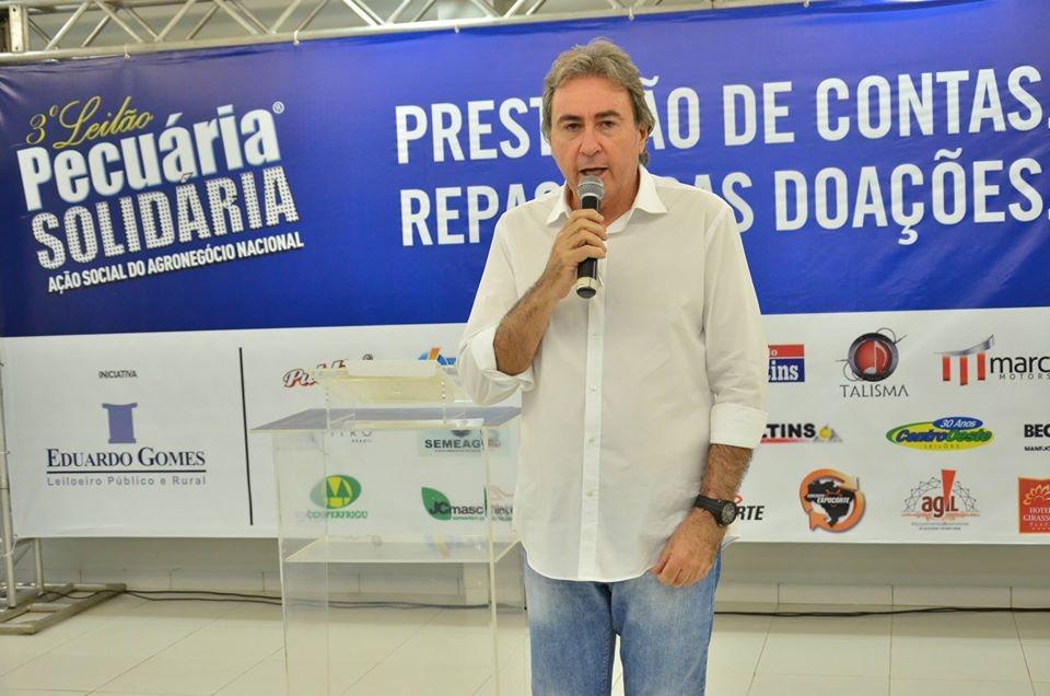 Prestação de contas do Leilão Pecuária Solidária será realizada neste sábado, em Palmas