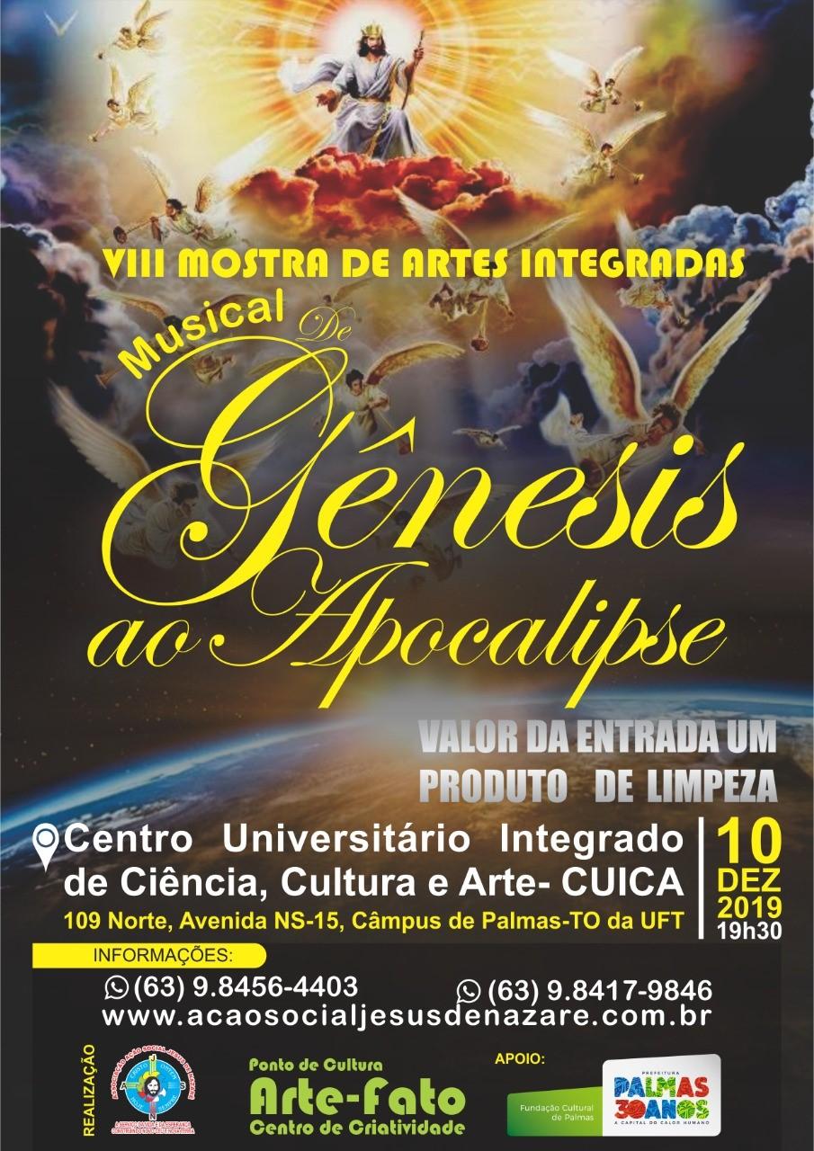 Musical De Gênesis ao Apocalipse é o tema da VIII Mostra de Artes Integradas da AASJN